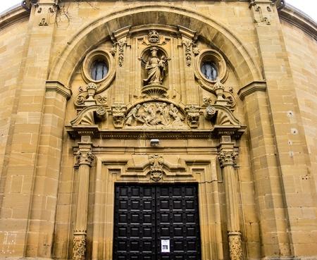 alava: Iglesia de San Juan en Laguardia Alava, Espa�a Foto de archivo
