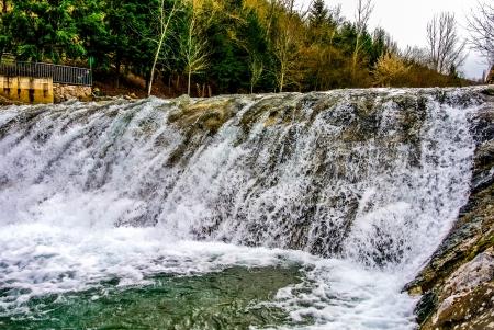 A waterfall in the Oja river  La Rioja, Spain Stock Photo - 17260107