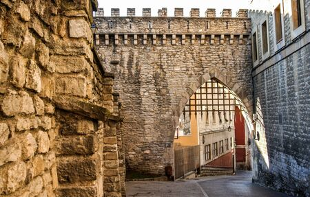 vitoria: The historic wall of Vitoria, Alava, Spain Stock Photo