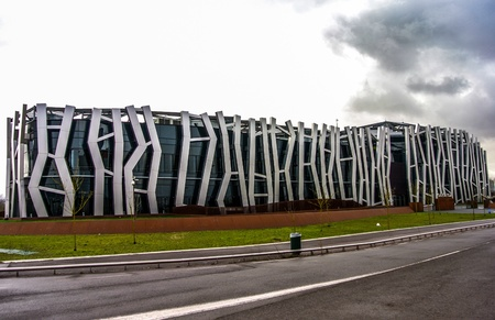 gasteiz: A modern building in Vitoria Gasteiz, Spain