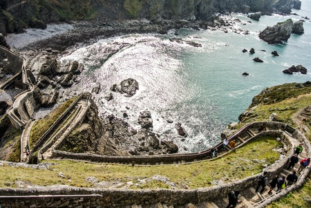 San Juan de Gaztelugatxe church  Basque Country, Spain  photo