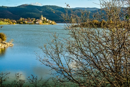 alava: Ullibarri-Gamboa lake  Alava, Spain  Stock Photo
