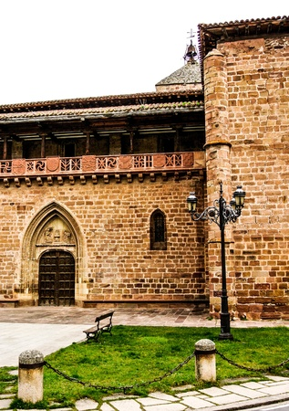 Santa Maria la Mayor church in Ezcaray  La Rioja, Spain  photo