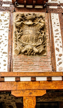 A shield in the warm  Ezcaray, La Rioja  photo