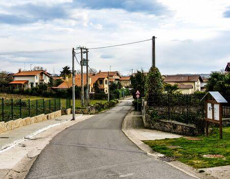 alava: Street of Gopegi  Alava, Spain