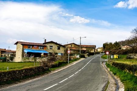 alava: Street of Manurga  Alava, Spain