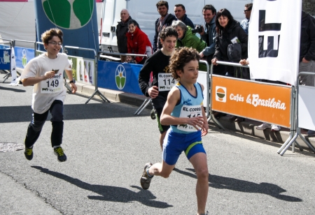 gasteiz: Several runners participating in the race of Murgia