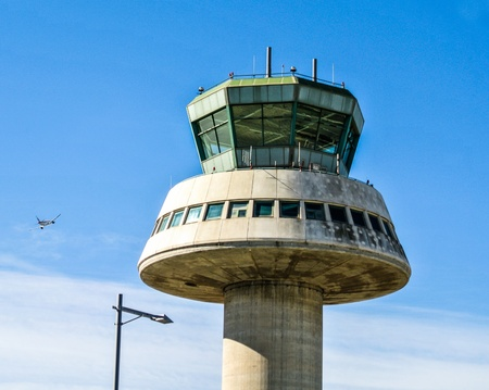 control tower: The control tower of Barcelona-El Prat Airport  Spain, Europe