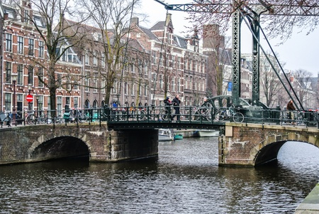 A bridge in a street of Amsterdam