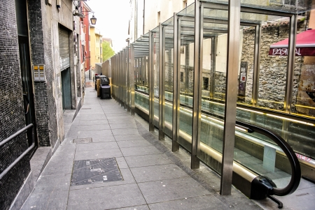 alava: Escalators in the old part of Vitoria, Alava, Spain
