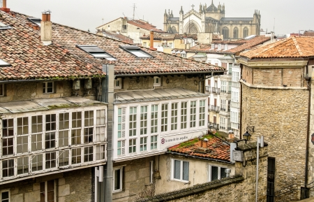 vitoria: The medieval town of Vitoria  Alava, Spain