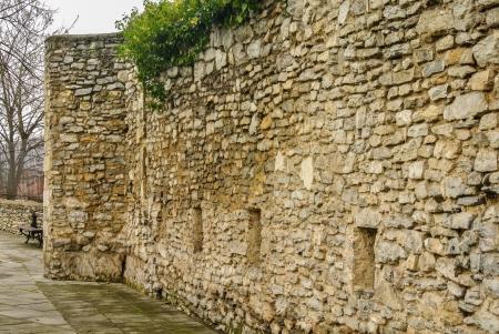 alava: The historic wall of Vitoria, Alava, Spain Stock Photo