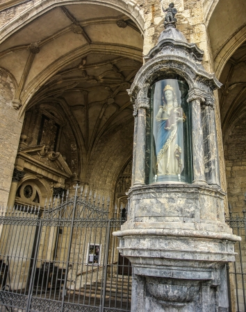 vitoria: The Blanca virgin near the San Miguel church in Vitoria  Alava, Spain  Editorial