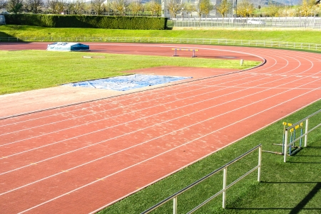 A curve in a running track