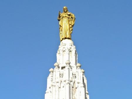 corazon: Monument of Sagrado Corazon in Bilbao  Vizcaya, Spain