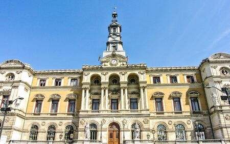 vizcaya: The town hall of Bilbao  Vizcaya, Spain   A sunny day with blue Sky