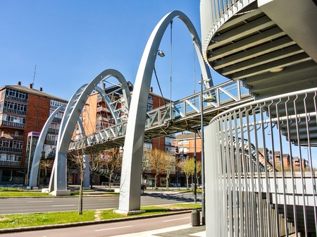 vitoria: The Boulevard bridge in Vitoria  Alava, Spain  Stock Photo