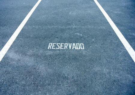 A symbol on the parking of reserved photo