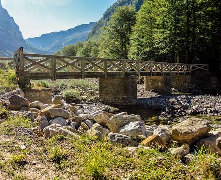 ordesa: View of Pyrenees mountains  Ordesa, Spain