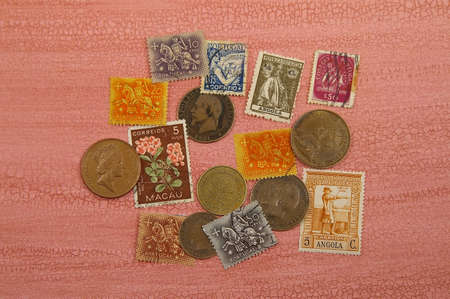 Portuguese Stamps and European Coins
