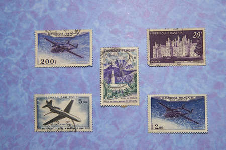 French Postage Stamps Imagens