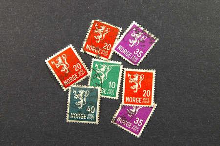 Cancelled stamps of Norway Reklamní fotografie