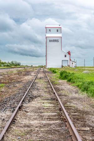 The historic Harris grain elevator in Saskatchewan, Canada
