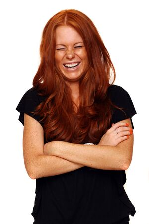 Portrait of girl with beautiful red hair Stock Photo - 5476558