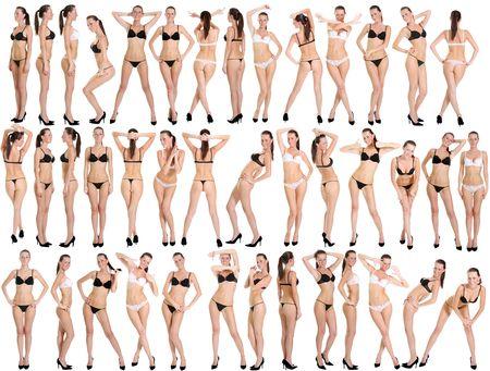 sexy girl nue: foule de mod�les de bikini Banque d'images