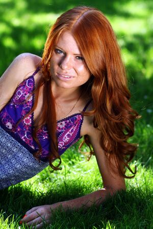 red-haired girl Stock Photo - 5793888