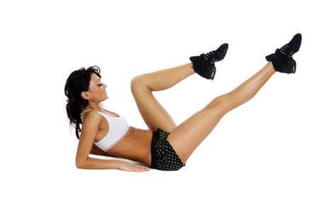 beautiful girl working out Stock Photo - 5798044