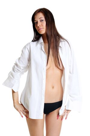 sexual girl in a white shirt Stock Photo - 5821720