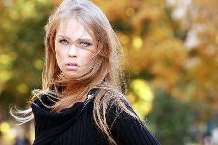 blonde hair: Autumn beauty