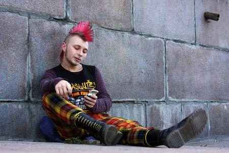 punk on the street photo