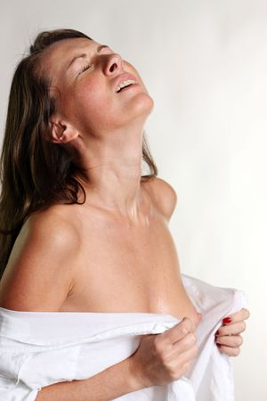 sexual girl in a wet white shirt  photo
