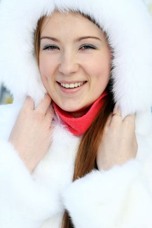 Girl in furry hat Stock Photo - 5880905