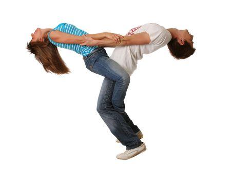 Couple embraced, men & woman photo