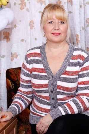 russian: beautiful blond old woman