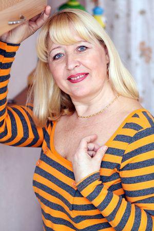 beautiful blond old woman photo