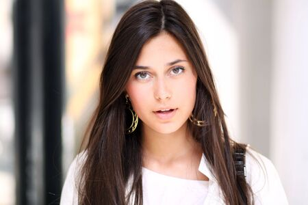 Closeup portrait of a beautiful young woman Stock Photo - 6750673