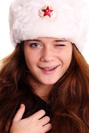lyrical: woman in a furry hat