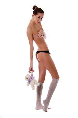 jeune femme nue: nue jeune femme Banque d'images