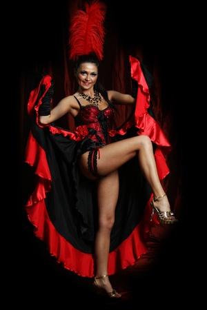 Sexy dancer girl wearing hot lingerie