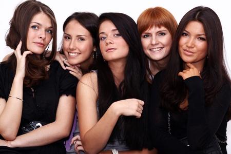 five closeup portrait beautiful women Stock Photo - 8541584