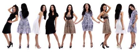 Full length of a beautiful young women in dress  photo