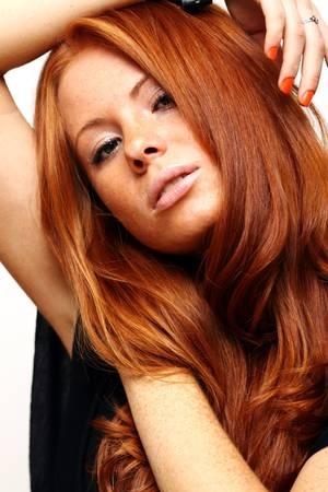Portret van meisje met mooie rode haren