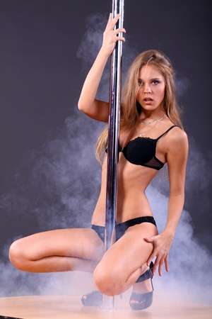 striptease dancer sexy young woman