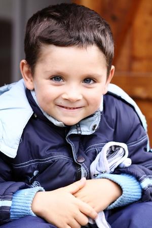 Portrait of the little boy  photo