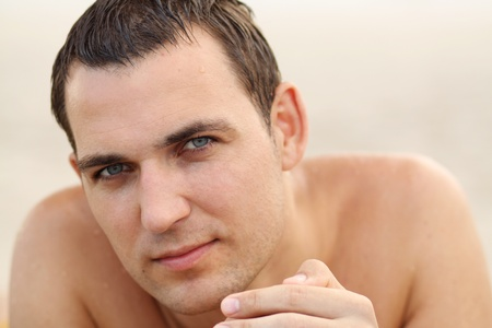 Handsome russian man at the beach  Stock Photo - 9250054