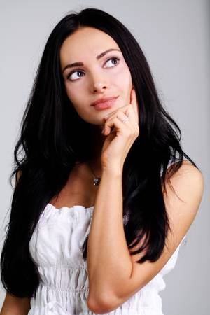 Closeup portrait of an attractive woman Stock Photo - 9513729